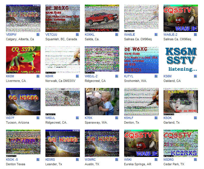 KE5RS' LIVE SSTV FROM AROUND THE WORLD